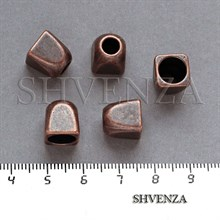 Шапочки для бусин концевики цвет медь 001-132