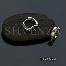 Швензы со штифтом родиевое покрытие цвет серебро 017-094