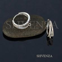 Швензы колечки родиевое покрытие цвет серебро 014-268