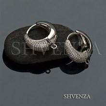 Швензы колечки родиевое покрытие цвет серебро 014-269