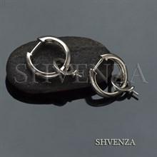 Швензы со штифтом для серёжек-трансформеров родиевое покрытие цвет серебро 017-106
