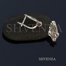 Швензы родиевое покрытие цвет серебро английский замок 017-111