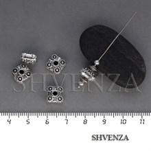 Металлические бусины рондели цвет античное серебро 007-106