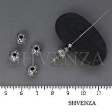 Металлические бусины цвет античное серебро 007-108