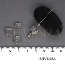 Металлические бусины Цветок цвет античное серебро 007-111