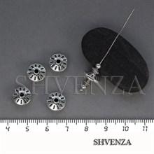 Металлические бусины рондели цвет античное серебро 007-114