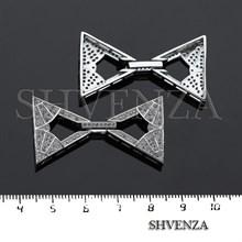 Замочек с фианитами цвет серебро 011-025