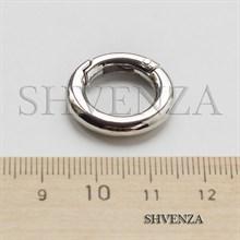 Замочек круглый с покрытием родием цвет серебро 011-031