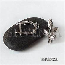 Швензы родиевое покрытие цвет серебро английский замок 017-123