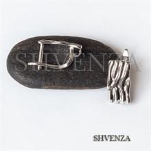Швензы родиевое покрытие цвет серебро английский замок 017-135