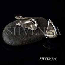 Швензы родиевое покрытие цвет серебро английский замок 017-143