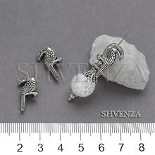 Металлические бусины туканы цвет античное серебро 007-170